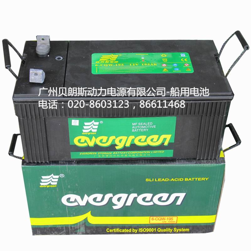 Maintenance-free battery 6-CQW-195,12V195AH